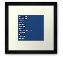 doctor&who Framed Print