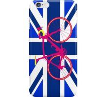 Bike Flag United Kingdom (Blue) (Big - Highlight) iPhone Case/Skin
