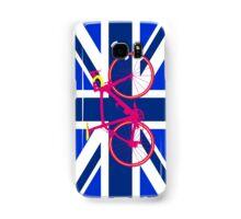 Bike Flag United Kingdom (Blue) (Big - Highlight) Samsung Galaxy Case/Skin
