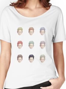 Colorful Tilda Heads on White Women's Relaxed Fit T-Shirt