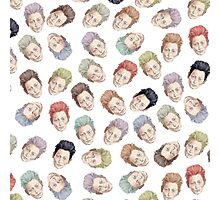 Colorful Tilda Heads on White Photographic Print