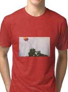 Banksy 'McDonalds flag' graffiti art. Tri-blend T-Shirt