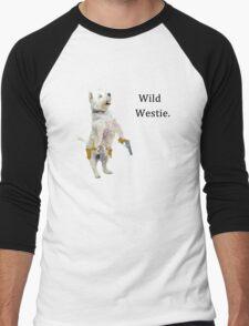 Wild Westie. Men's Baseball ¾ T-Shirt