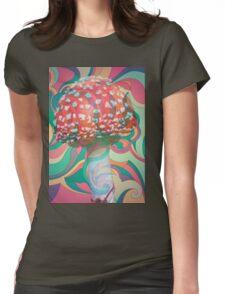 Magic Mushroom Womens Fitted T-Shirt