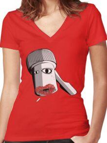 Ratchet Girl Women's Fitted V-Neck T-Shirt