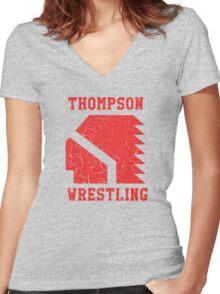 Thompson High School Wrestling Women's Fitted V-Neck T-Shirt