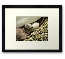 The Helping Hand. Framed Print