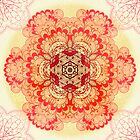 Pink mandala by Patternalized