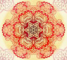 Pink mandala by Patternalized