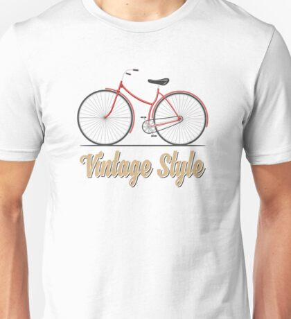 Vintage bike (red) Unisex T-Shirt