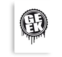 Geek Stempel Logo Canvas Print