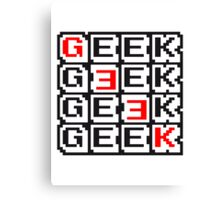 Geek Nerd Muster Design Canvas Print