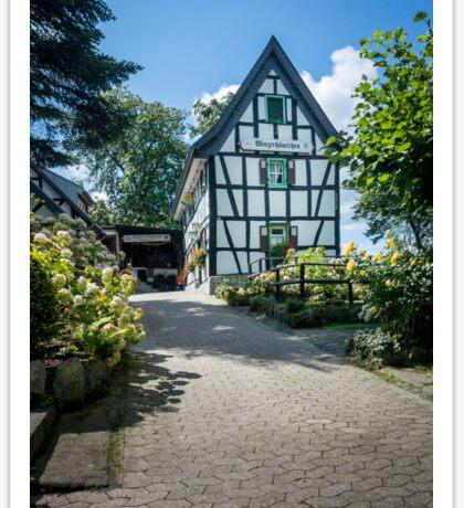 German Half - Timbered Building Sticker