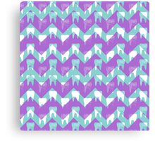 Tooth Chevron Canvas Print