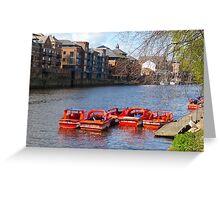 York pleasure boats Greeting Card