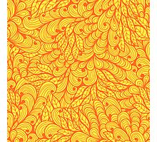 Orange ornamental floral pattern Photographic Print