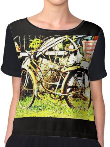 Old Bike Chiffon Top