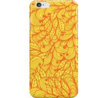 Orange ornamental floral pattern iPhone Case/Skin