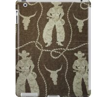 Vintage Fabric of Cowboy, Lasso and skull iPad Case/Skin