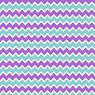 Blue & Purple Chevron by thetangofox
