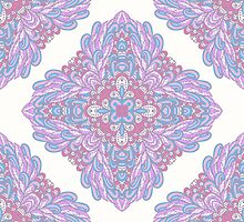 Violet ornamental floral design by Patternalized