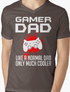 Gamer Dad Mens Funny Video Game Mens V-Neck T-Shirt