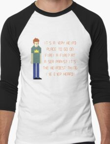 The IT Crowd – A Fire at Sea Parks?! Men's Baseball ¾ T-Shirt
