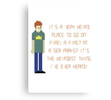 The IT Crowd – A Fire at Sea Parks?! Canvas Print