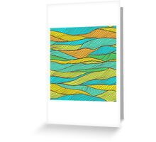 Striped bright hand drawn pattern Greeting Card