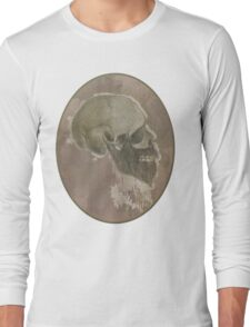 Ridiculous Bearded Skull Sketch  Long Sleeve T-Shirt