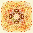 Orange mandala by Patternalized