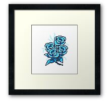 8-bit flower 2 Framed Print