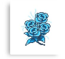 8-bit flower 2 Canvas Print