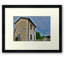 Disused Rail Building Between Moimacco and Cividale del Friuli Framed Print
