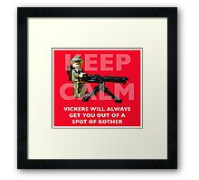 Keep Calm, Vickers will help. Framed Print