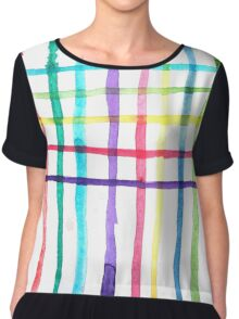 'Between the Lines' Watercolour Pattern Chiffon Top