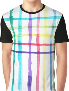 'Between the Lines' Watercolour Pattern Graphic T-Shirt