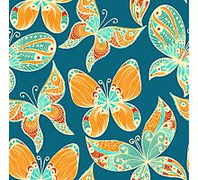 Butterflies. Hand drawn pattern Photographic Print