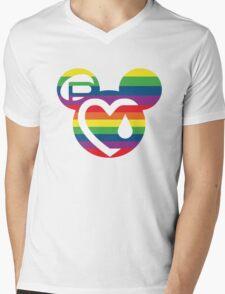 DON'T HATE LOVE Mens V-Neck T-Shirt