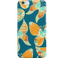 Butterflies. Hand drawn pattern iPhone Case/Skin