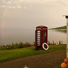 Isle of Rum - telephone box at the end of the world by lukasdf