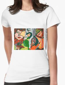 The Woman Smoking A Cigarette Womens Fitted T-Shirt