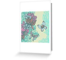 Butterfly & Rose Greeting Card