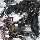 Werebear Battle by Mayra Boyle