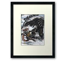 Werebear Battle Framed Print