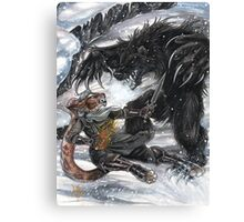 Werebear Battle Canvas Print