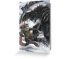 Werebear Battle Greeting Card