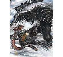 Werebear Battle Photographic Print