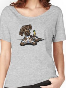 Wirehaired Pointing Griffon & Duck Women's Relaxed Fit T-Shirt