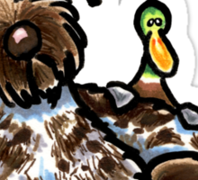 Wirehaired Pointing Griffon & Duck Sticker